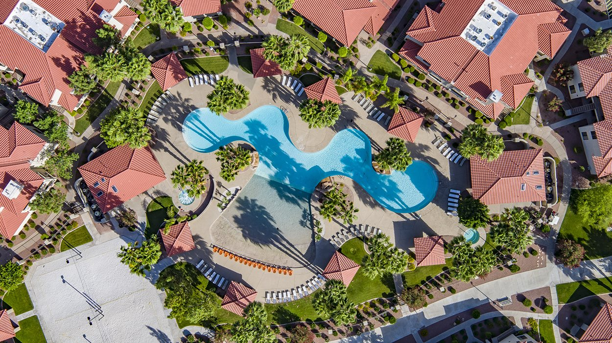 San Melia Phoenix Apartments Aerial Pool