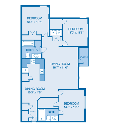 3 Bed/2 Bath - 1426 Sqft Floor Plan 11
