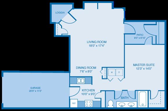 The Aberdeen Floor Plan 1