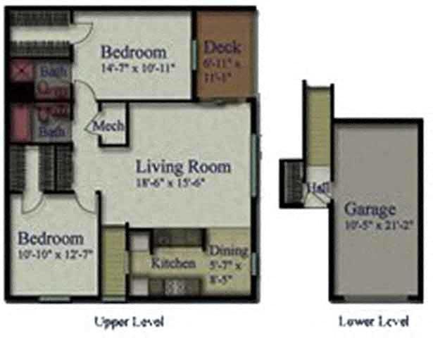 2 Bedroom Upper Floor Plan 2