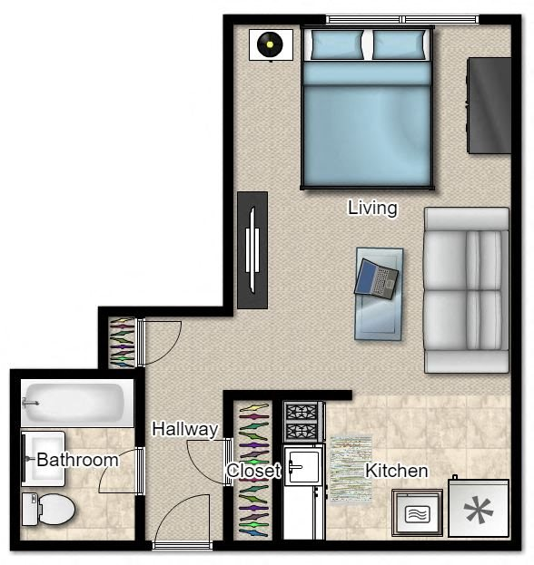 Studio Floor Plan 3