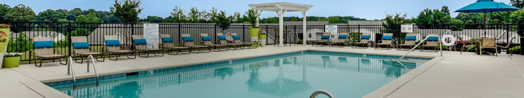 Sparkling Swimming Pool at Hawthorne at the Hall in Rural Hall North Carolina