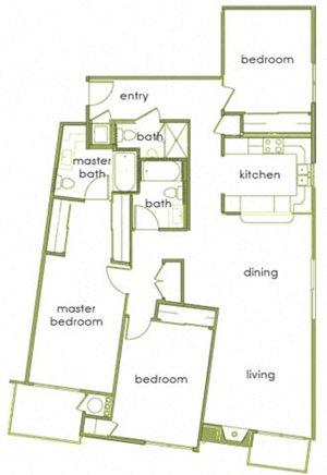 3 Beds, 3 Baths