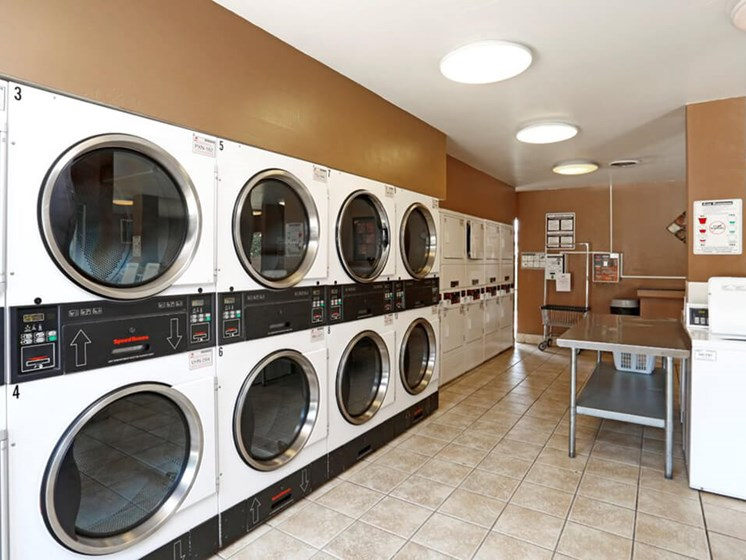 Onsite laundry facility at the Gates of Rochester Apartments
