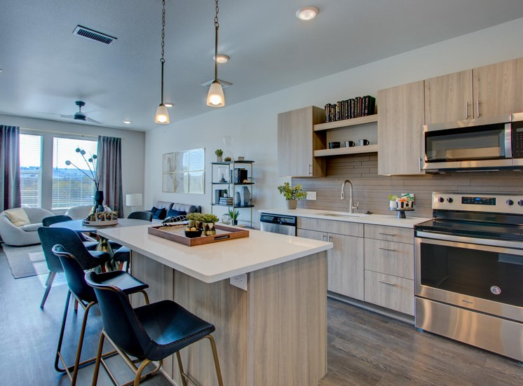 One Bedroom Kitchen at Fusion 355, Broomfield, 80021
