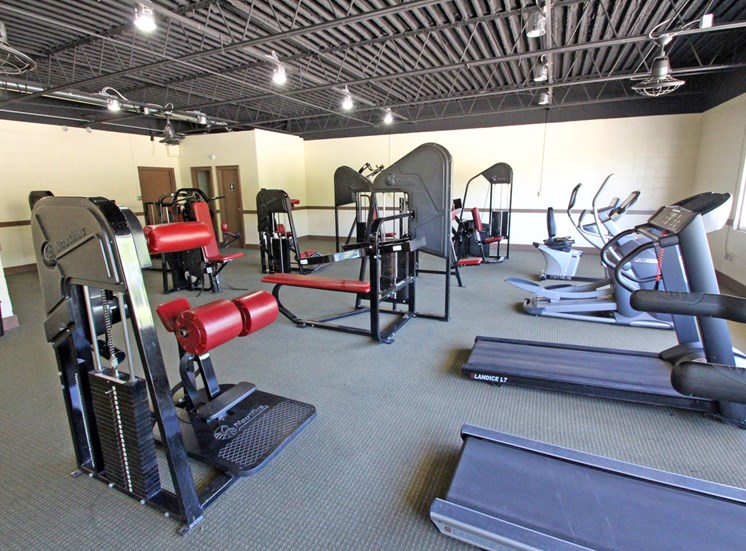 This is a photo of the Fitness Center at Aspen Village Apartments in Cincinnati, OH.