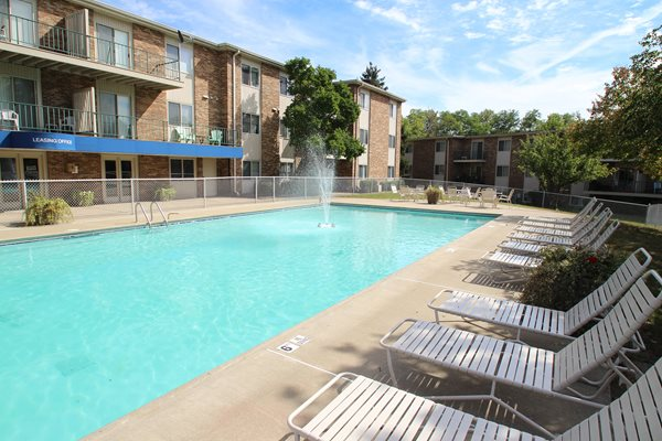 This is the pool at Blue Grass Apartments in Erlanger, KY.
