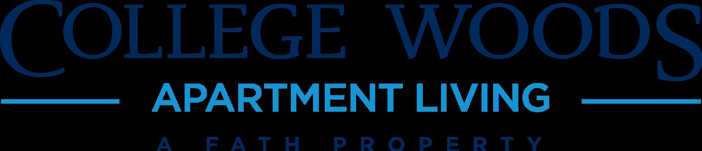 This is the logo of College Woods Apartments in Cincinnati, Ohio