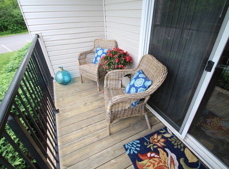 This is a photo of a private balcony at Deer Hill Apartments in Cincinnati, OH.
