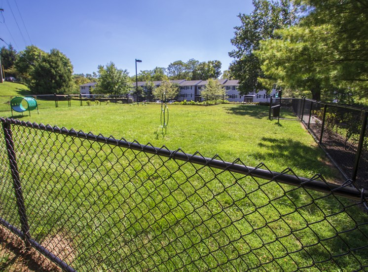 This is a picture of the dog park at Deer Hill Apartments in Cincinnati, Ohio.