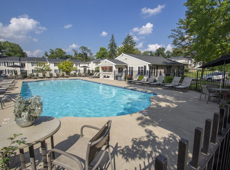 This is a picture of the pool area at Deer Hill Apartments in Cincinnati Ohio.