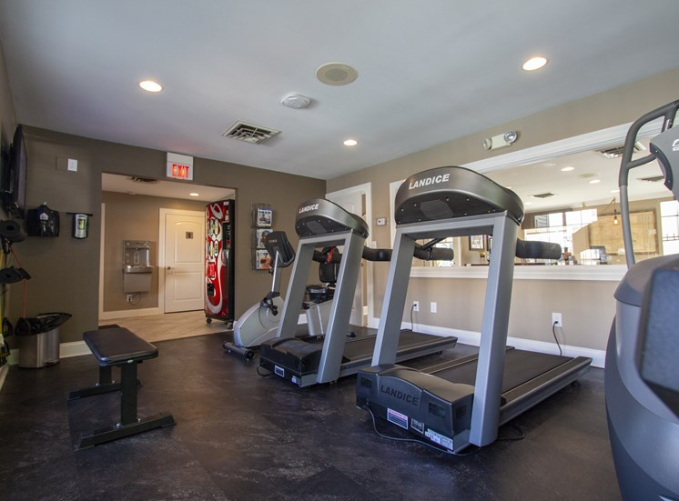 This is a picture of the fitness center at Deer Hill Apartments in Cincinnati Ohio.