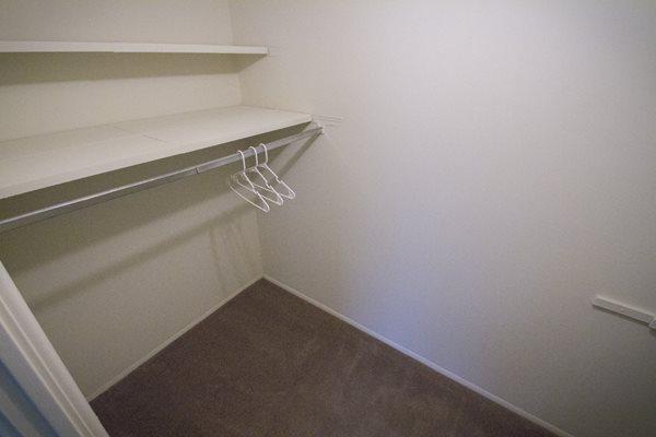 This is the walk in closet at Lisa Ridge Apartments in Cincinnati, OH