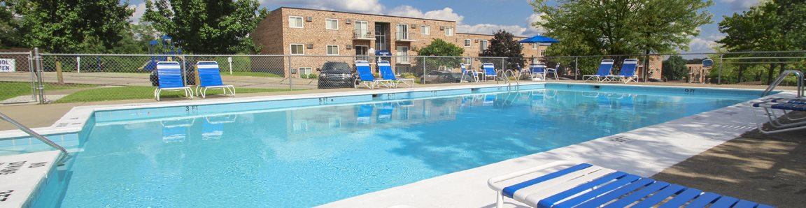 This is a photo of the swimming pool at Lisa Ridge Apartments in Cincinnati, OH