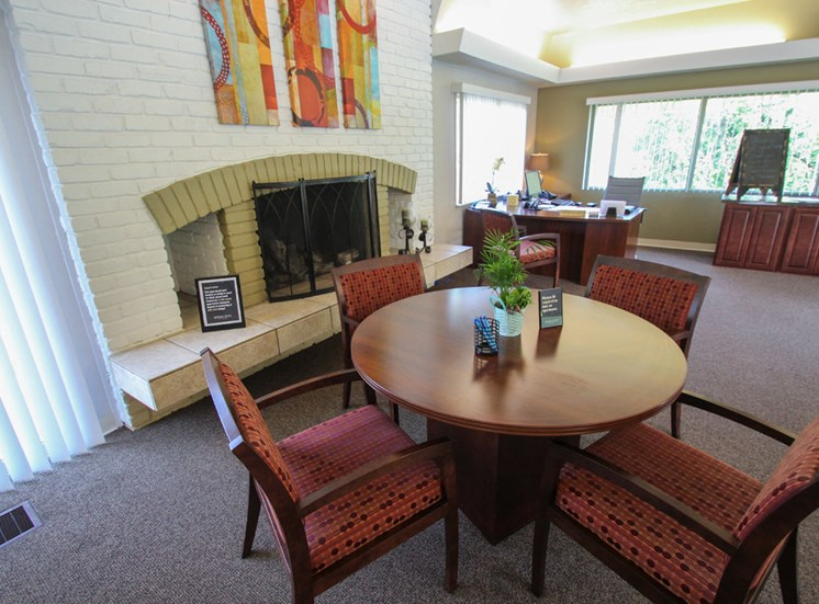 This is a photo of the leasing office interior at Montana Valley Apartments in Cincinnati, OH.