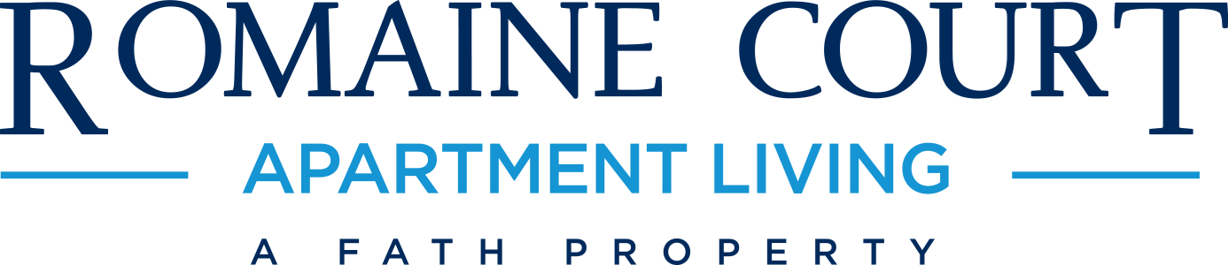 This is the logo of Romaine Court Apartments in Cincinnati, Ohio