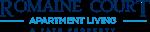 This is the logo of Romaine Court Apartments in Cincinnati, Ohio