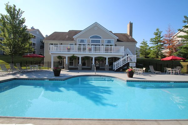 This is the pool at Trails of Saddlebrook Apartments in Florence, KY
