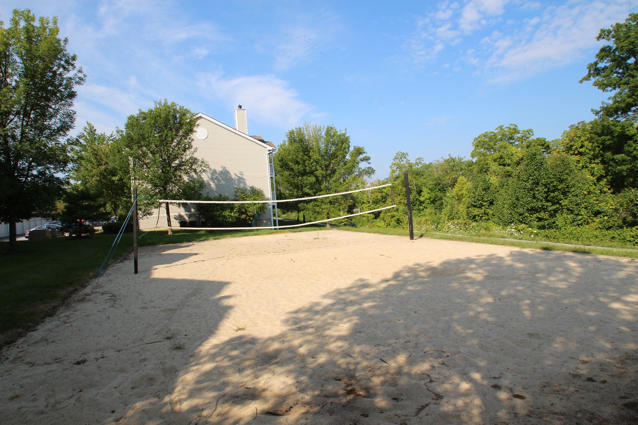 This is the sand volleyball court at Trails of Saddlebrook Apartments in Florence, KY