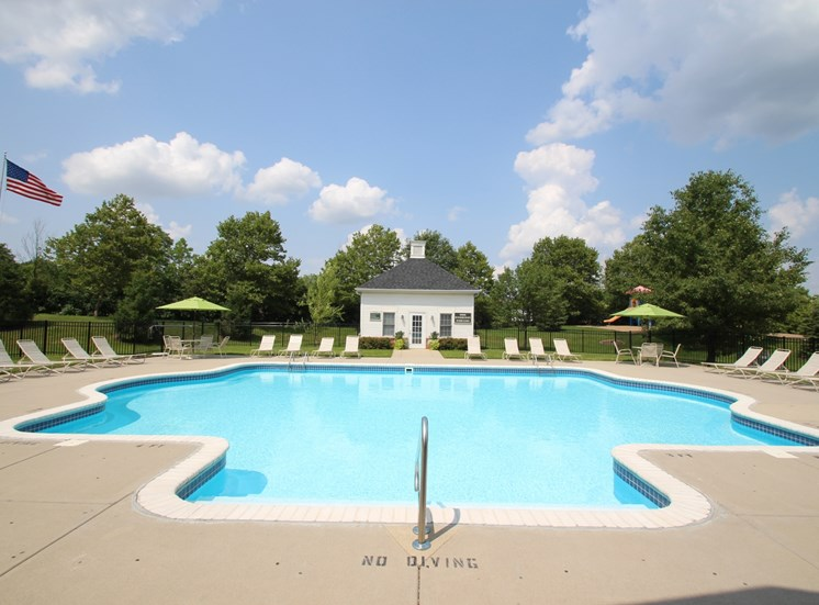 This is a photo of the pool area at Washington Park in Centerville, OH.