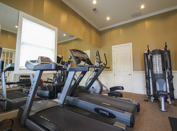 This is a photo of the 24-hour fitness center with free weights at Washington Park in Centerville, OH.