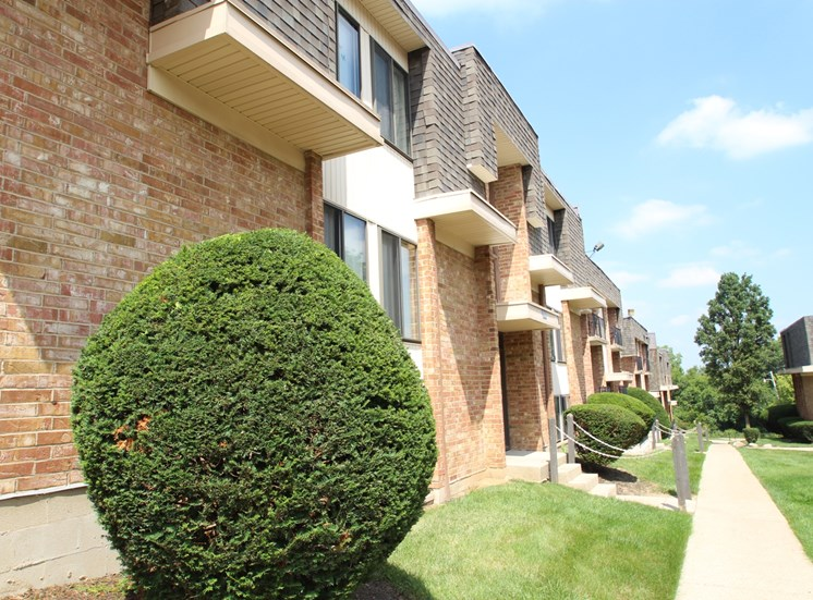 This is a photo building exteriors at Wyoming Hills Apartments in Dayton, OH.