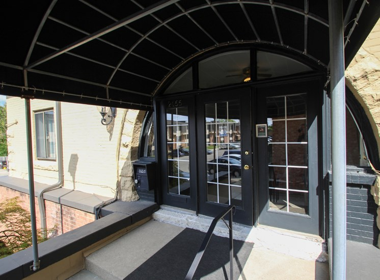 This is the Leasing Office entrance at Wyoming Hills Apartments in Dayton, OH.