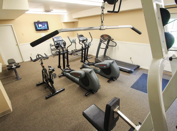 This is the fitness center at Wyoming Hills Apartments in Dayton, OH.