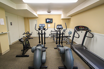 This is the fitness center at Wyoming Hills Apartments in Dayton, OH