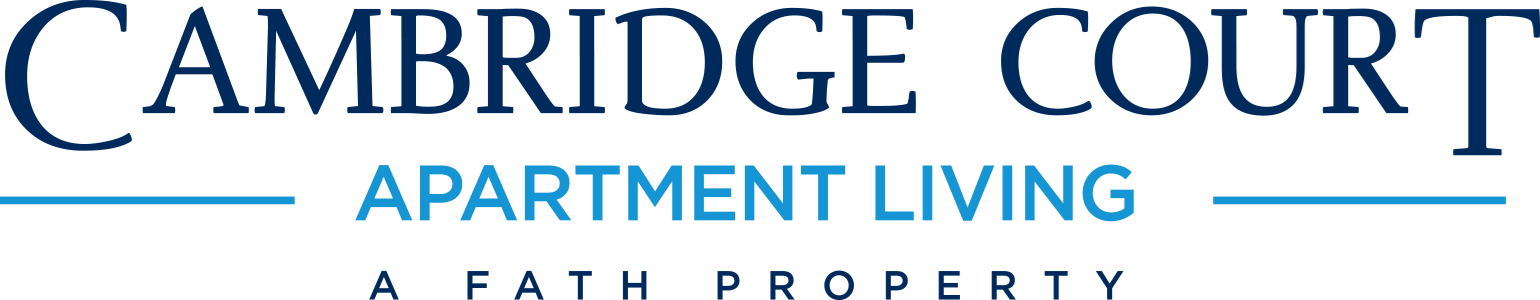 This is the logo of Cambridge Court Apartments in Dallas, Texas