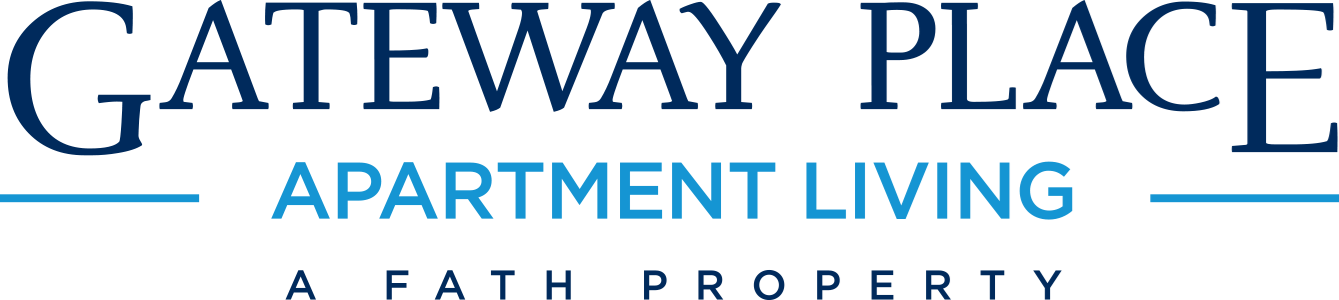 This is the logo of Gateway Place Apartments in Garland, Texas