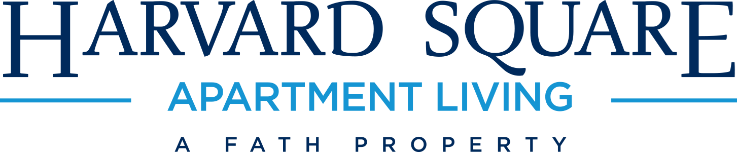 This is the logo of Harvard Square Apartments in Dallas, Texas