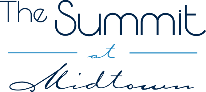 This is the logo of The Summit at Midtown Apartments in Dallas, Texas