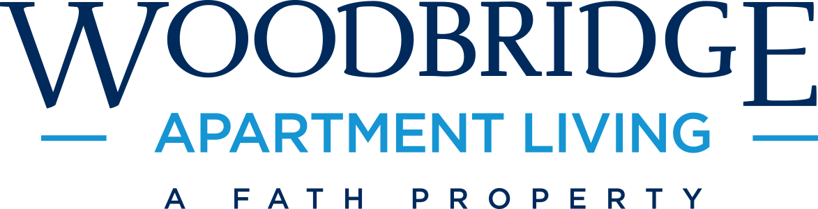 This is the logo of Woodbridget Apartments in Dallas, Texas