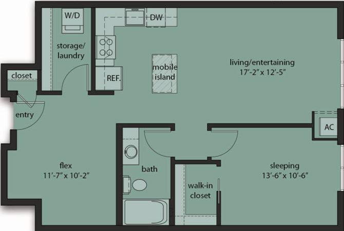 One Bedroom Den C6