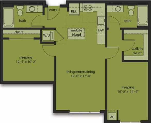 Two Bedroom D1