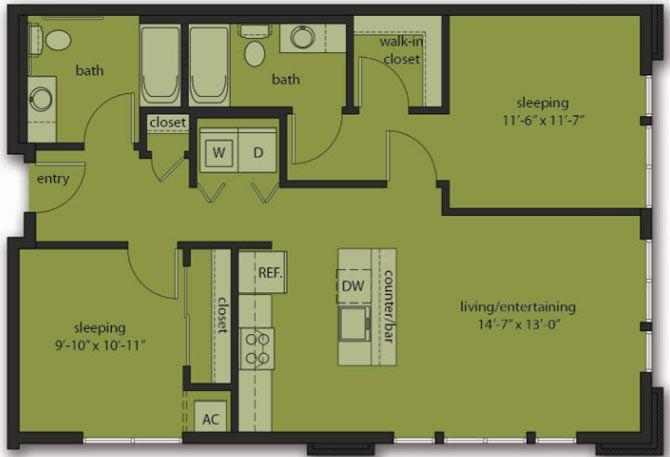Two Bedroom E2