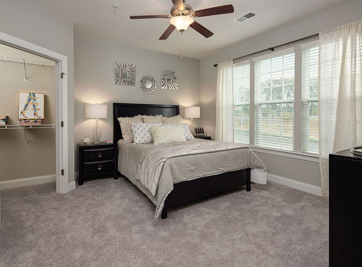 Spacious Bedrooms with en-suite Closet at The Villages at Westford, Apex, NC
