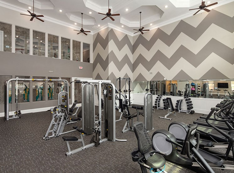 Fitness Center With Modern Equipment at The Villages at Westford, North Carolina, 27523