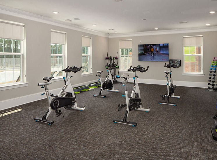 Spin Bikes In Gym at The Villages at Westford, Apex, NC, 27523