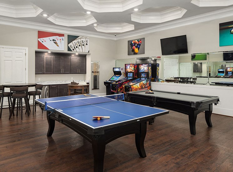 Community Game Room at The Villages at Westford, Apex, NC