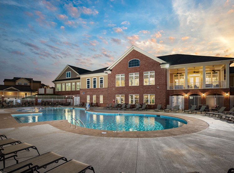 Beautiful Clubhouse with Pool at The Villages at Westford, Apex, 27523