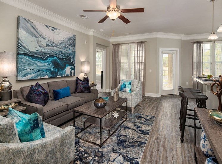 Well Lit Living Spaces at The Villages at Westford, Apex