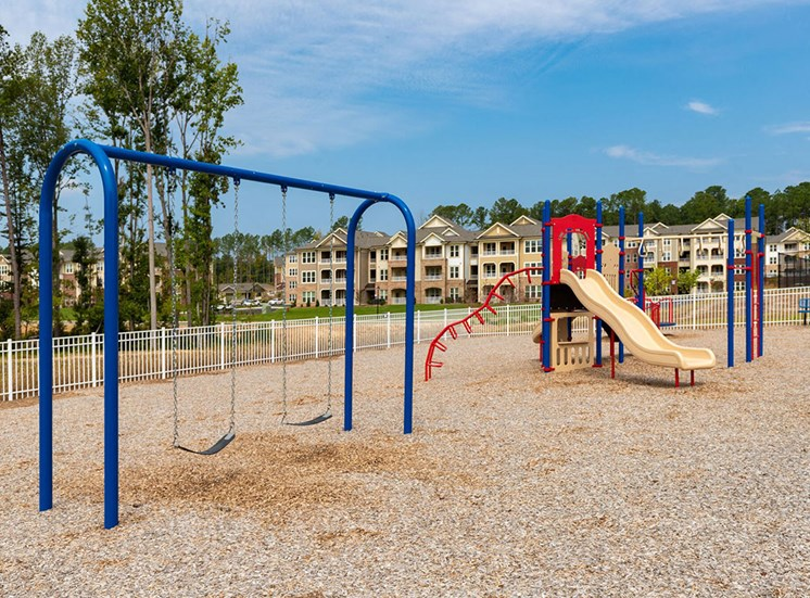 Gated Playground Area at The Villages at Westford, Apex, NC, 27523