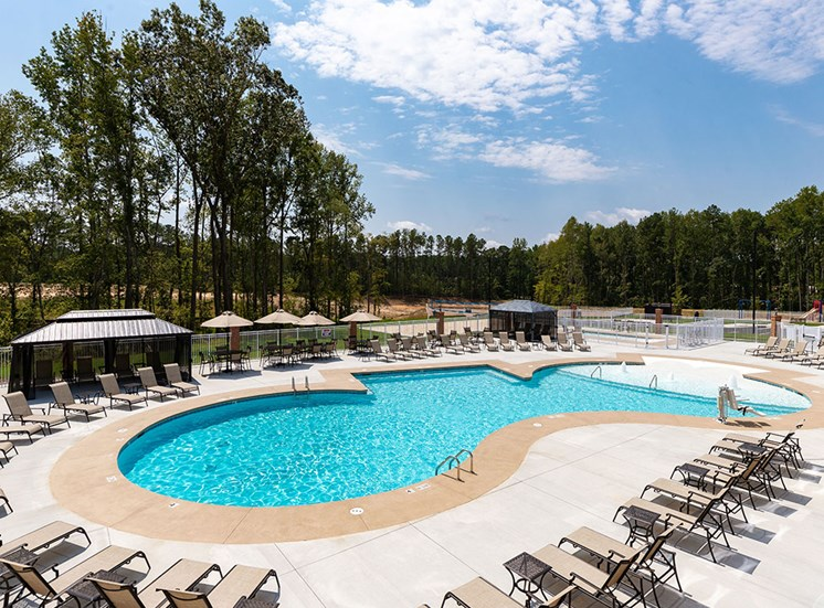 Swimming Pool And Sundeck at The Villages at Westford, Apex, North Carolina
