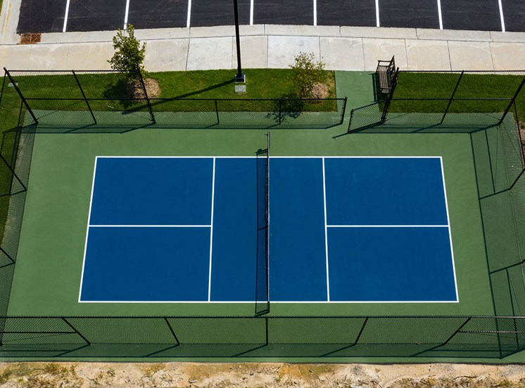 Smooth and Well Kept Tennis Court at The Villages at Westford, North Carolina, 27523