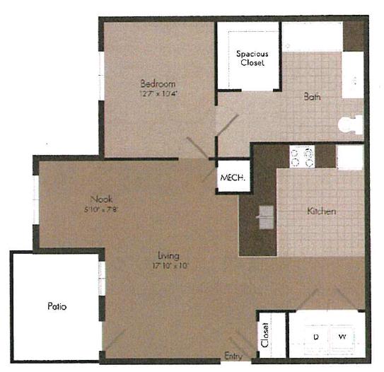1x1 floor plan | The Landing OKC in Oklahoma City, OK 73135