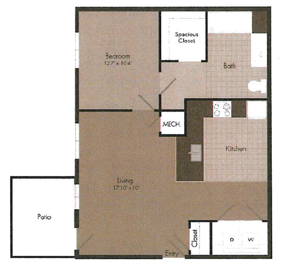 1x1 floor plan   The Landing OKC in Oklahoma City, OK 73135