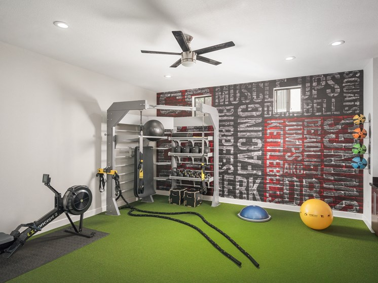 Fitness cross training room