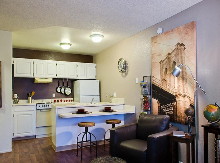 Model apartment home kitchen